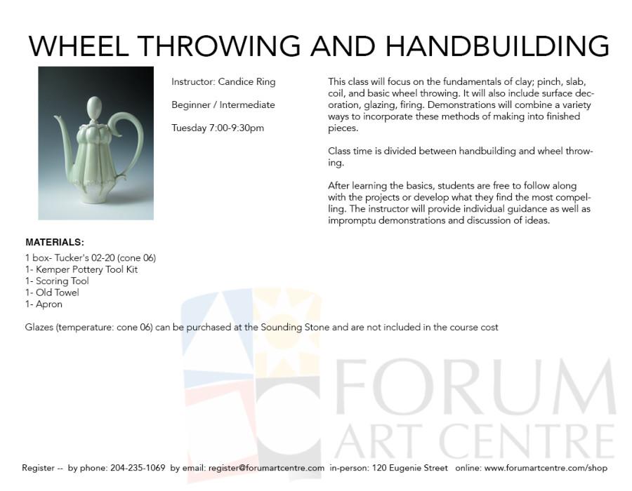 Wheel Throwing and Handbuilding Clay | Forum Art Centre